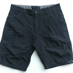 Oakley Black Flat Front Chino Shorts